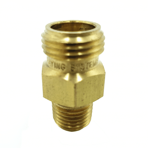 """THREADED NOZZLE BODY - BRASS - 11/16"""" TO 1/4"""" MALE THREAD"""