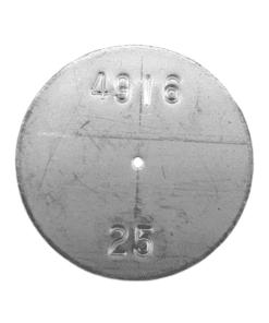 TeeJet CP4916-25 | Stainless Steel TeeJet Orifice Plate