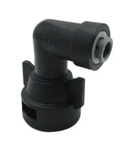 "TeeJet QJ98598-90-1/4 | 1/4"" Push-to-Connect 90º Fixed Cap"