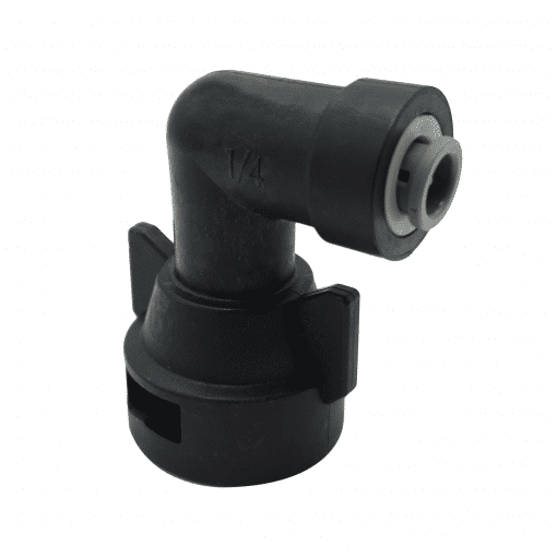 "TeeJet QJ98598-90-1/4 | 1/4"" Push-to-Connect 90º Fixed Cap"