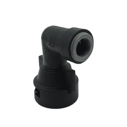 "TeeJet QJ98599-90-3/8 | 3/8"" Push-to-Connect 90º Fixed Cap"