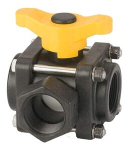 "1.1/2"" 3 Way Side Load Poly Valve"