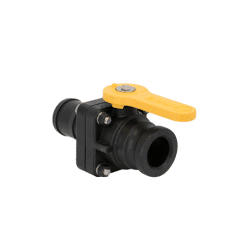 """1.1/2"""" Male Adapter x 1.1/2"""" Hose Barb Stubby Ball Valve"""