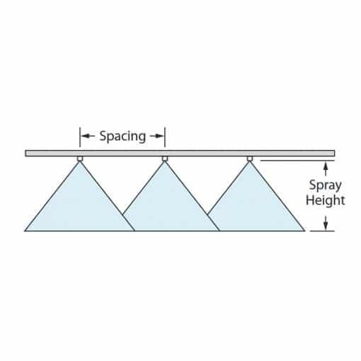 AI3070 Air Induction Dual Pattern Flat Spray Tip Spacing Diagram