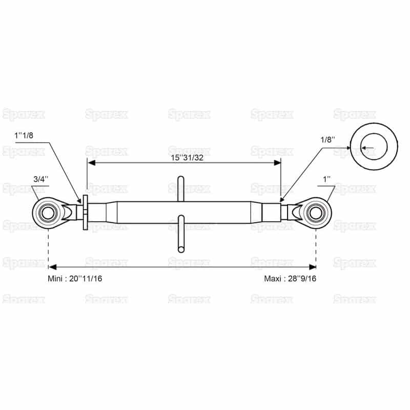 Sparex S.315 - Dimensions 2