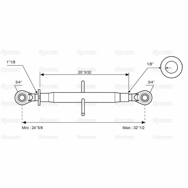 Sparex S.316 - Dimensions