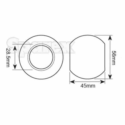 Sparex S.33005 - Dimensions