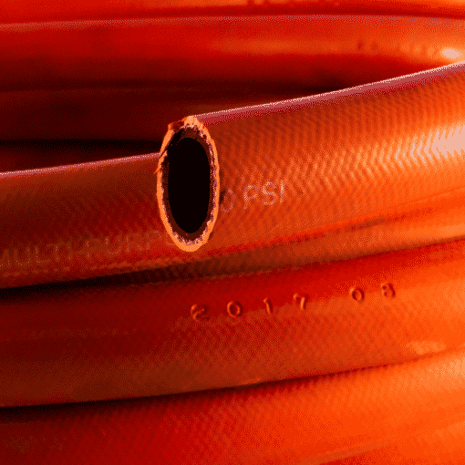 "25mm 1"" Powaflex Red Multi Purpose Hose Closeup"