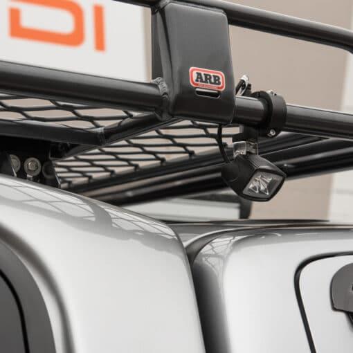 35mm LED Light Mounting Brackets for ATV Roof Rack Close Up 6
