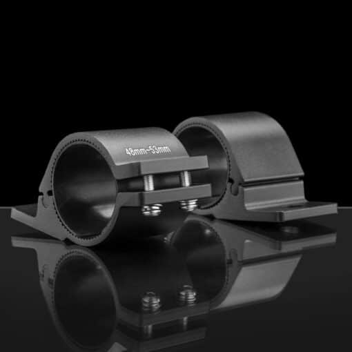 48mm to 53mm Tube Clamp Bull Bar Mounting Brackets Black