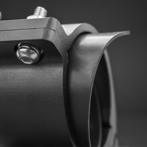 48mm to 53mm Tube Clamp Bull Bar Mounting Brackets Black Closeup 4