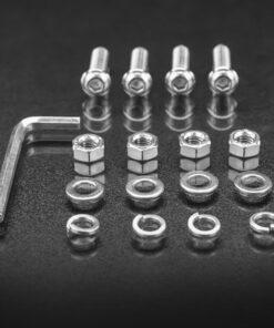 48mm to 53mm Tube Clamp Bull Bar Mounting Brackets Black Screw Kit