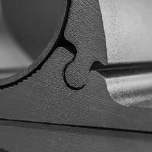 60mm to 65mm Tube Clamp Bull Bar Mounting Brackets Black Closeup 3
