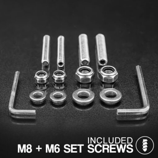 75mm - 77mm VICE Bull Bar Tube Clamps Screw Kit 2
