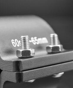 76mm to 81mm Tube Clamp Bull Bar Mounting Brackets Black Closeup 2