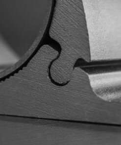 76mm to 81mm Tube Clamp Bull Bar Mounting Brackets Black Closeup 3