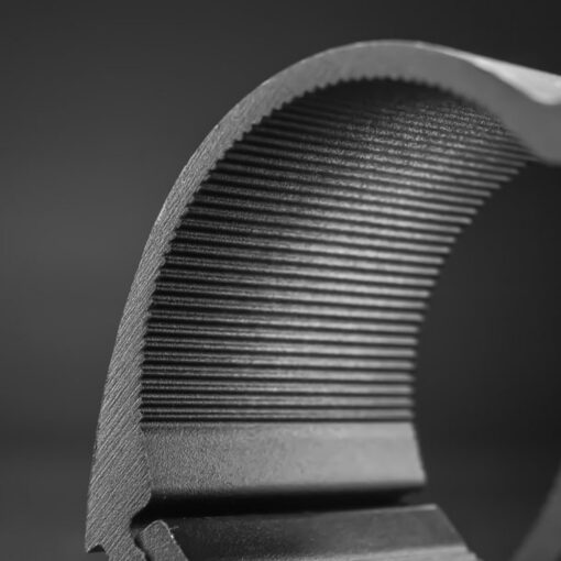 76mm to 81mm Tube Clamp Bull Bar Mounting Brackets Black Closeup 5