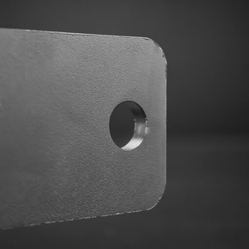 76mm to 81mm Tube Clamp Bull Bar Mounting Brackets Black Closeup 6