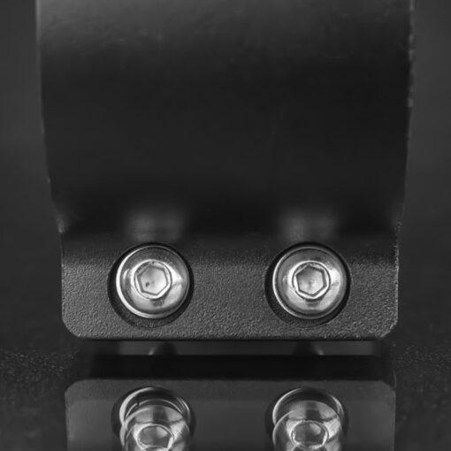 76mm to 81mm Tube Clamp Bull Bar Mounting Brackets Black Closeup 7