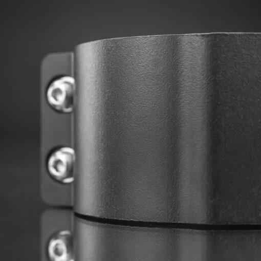 76mm to 81mm Tube Clamp Bull Bar Mounting Brackets Black Closeup 8