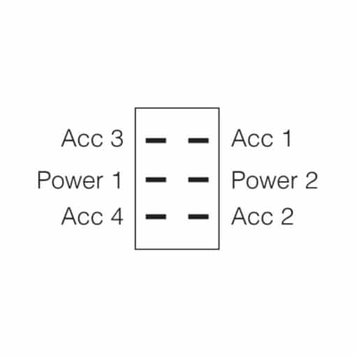 Narva On / On Rocker Switch Diagram