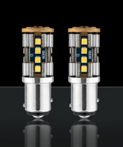 STEDI 2 Pack BA15D 1157 p215w BAY15D 20smd 3030 LED Closeup