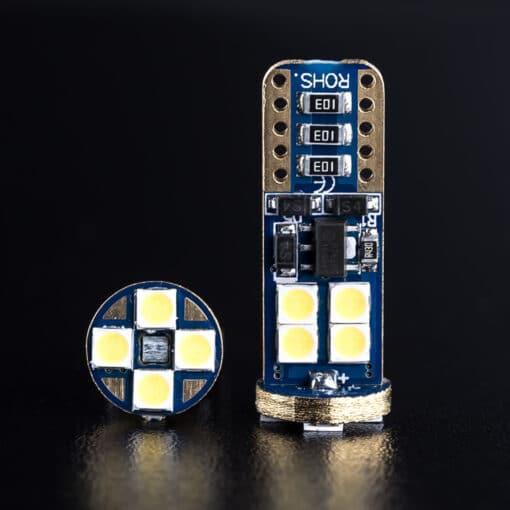 STEDI 2 Pack T10 W5W Wedge LED Light 28mm Closeup