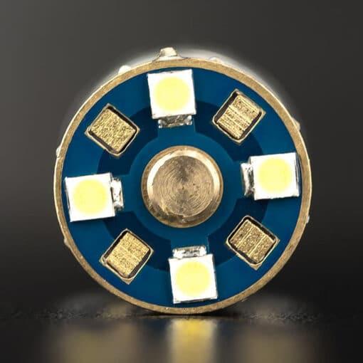 STEDI 2 Pack T20 7443 W215W Wedge LED Light Dual Filament Parker Closeup 3