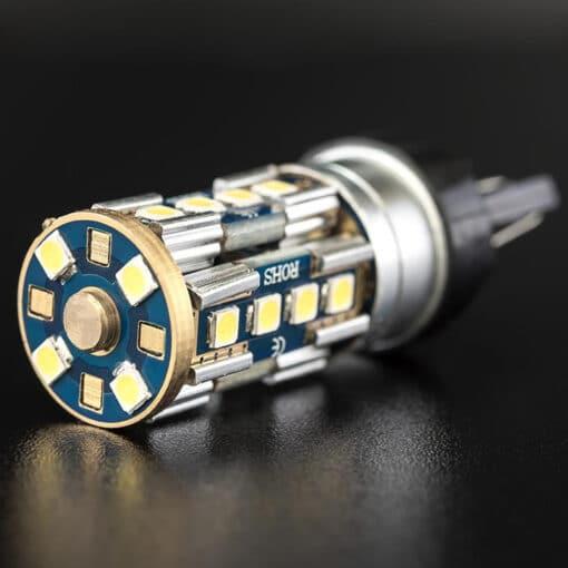 STEDI 2 Pack T20 7443 W215W Wedge LED Light Dual Filament Parker Closeup