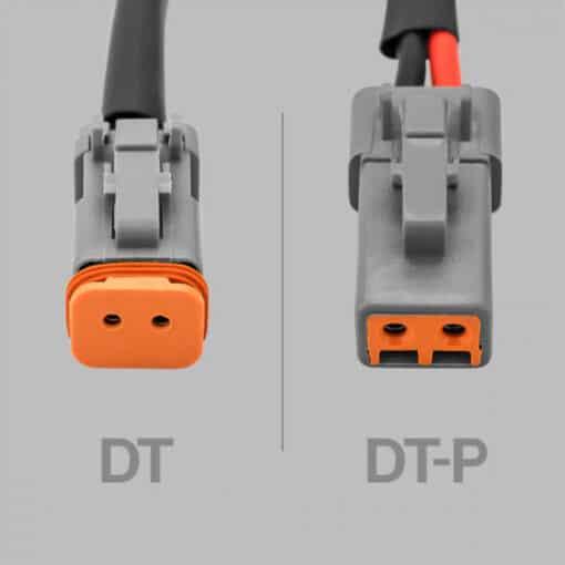 STEDI 2 to 1 Deutsch Connector Splitter 2 Lights with 1 Wiring Harness 1.5m Closeup 2