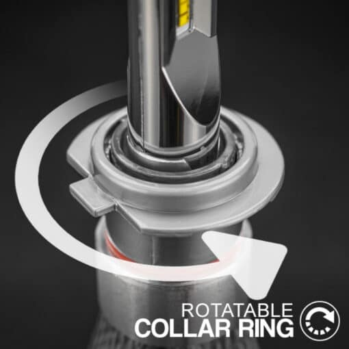 STEDI Copper Head H1 LED Head Light Conversion Kit Closeup 7