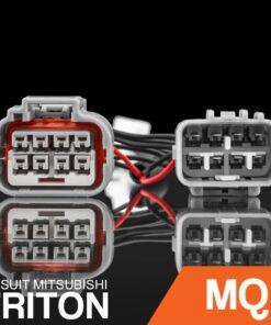 STEDI Mitsubishi MQ Triton HID Headlight Piggy Back Adapter