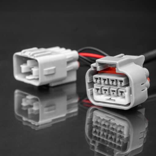 STEDI Mitsubishi MR Triton HID Headlight Piggy Back Adapter Closeup 3