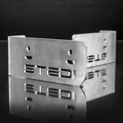 STEDI Stainless Steel Double Stack Brackets (Pair) Closeup