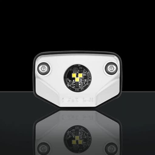 STEDI Surface Single White Marine LED Rock Light Marine White Closeup 4