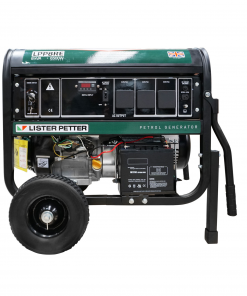 8 kVA Lister Petter Portable Generator with E-Start Side View