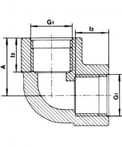 5050 Threaded Elbow Diagram