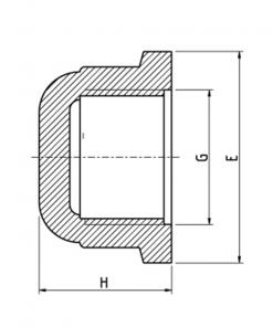 5070 BSP Threaded Cap Diagram