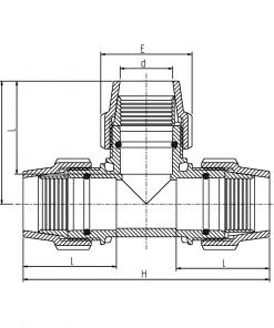 7040 Metric Tee Diagram