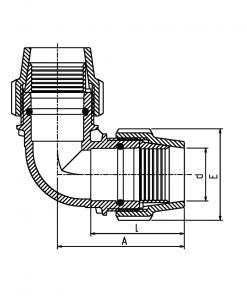 7050 Metric Elbow Diagram